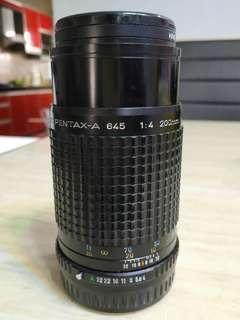 Pentax SMC pentax-a 645 200mm f4 lens