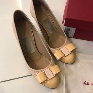 Authentic Salvatore Ferragamo heels, size 6.5