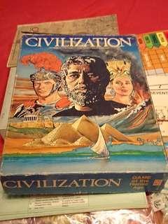 Original boardgame Civilization by Avalon Hill wth Guide