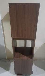 Brown Rotating Standing Shelves