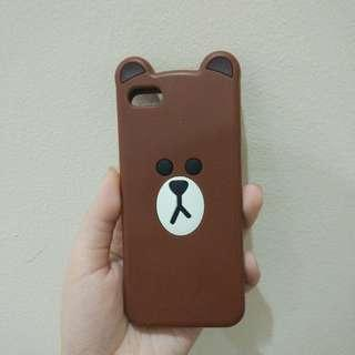 LINE BROWN IPHONE 5S SOFTCASE / SOFT CASE