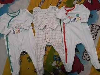 Take all mothercare sleepsuit 3-6bulan