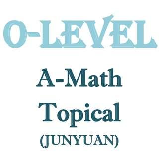 2016 Junyuan A Math topical revision / Sec 3 / Sec 4 / Additional Mathematics / school topical practices / exam papers / test papers / A Math / Additional Math / past year paper