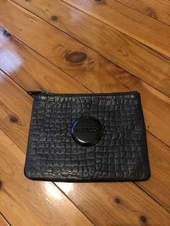 Mimco black croc purse