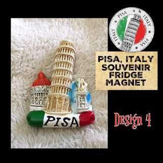 (ITALY) Pisa Souvenir Fridge Magnet Series: Design 4