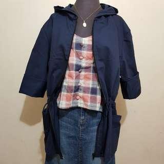 Hooded Parka Jacket Navy