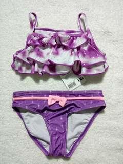 Cool Attitude Ruffled Top & Disney Bikini Bottom Two Piece Swimsuit for Baby Girl Swimwear Set