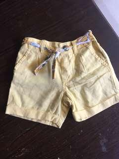 Hotpant yellow mothercare