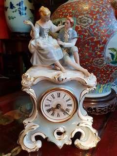 Royal dux bohemia handpainted chech  republic antique porcelain clock