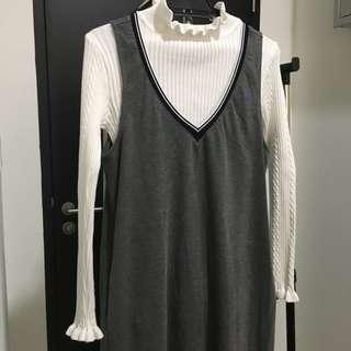 Long sleevless dress