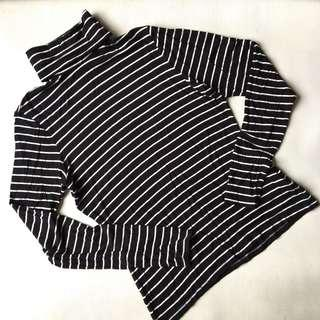 H&M Turtle Neck Striped Too