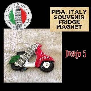 (ITALY) Pisa Souvenir Fridge Magnet Series: Design 5