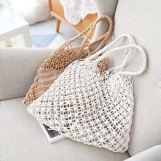 #UNDER90 Woven Fishnet Bag