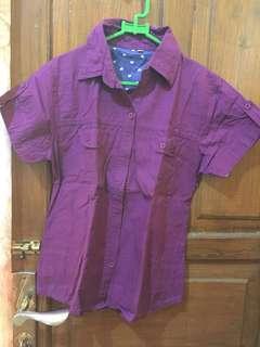 Kemeja Purple Import