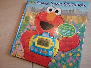 New Sesame Street Snapshots Camera Elmo interactive Play-a-Sound Hardcover book 18month+