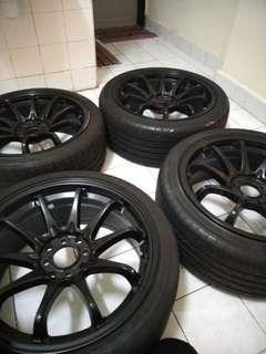 """Sport Rim Ce28 17""""7.5jj ET30 8 Holes + 4 tyres"""