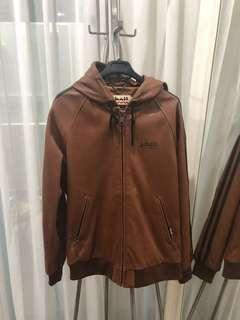 Schott NYC hooded leather jacket size L from Harajuku