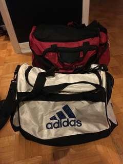 Adidas and GoodLife gym bag