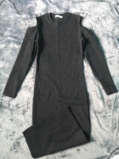 MICHAELA Black Long Dress (Size M-L)