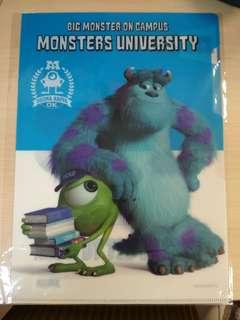 Plastic folder - Monster Inc