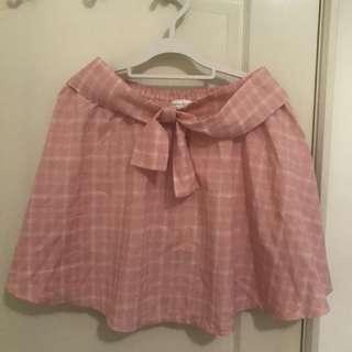 🚚 全新粉色格子裙