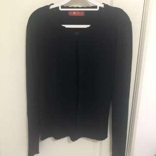 🚚 黑針織外套