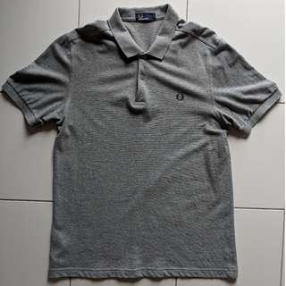 Fred Perry solid Grey colour polo. Size: L size (M6000)