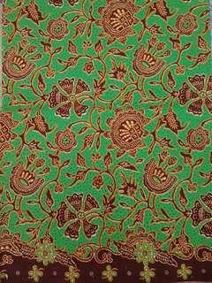 Kain Batik Jarik Print Hijau