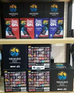 全新 行貨NEOGEO mini SNK40週年版 亞洲版 HK$860 現貨發售