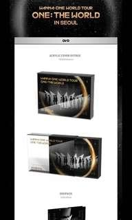 [ems po] wanna one 'ONE : THE WORLD' dvd !!
