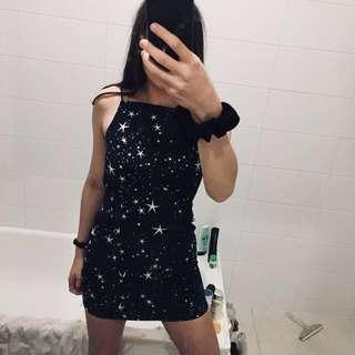 FINDERS KEEPERS STARRY NAVY BLUE DRESS