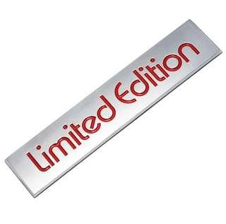 """Metal plate """"Limited Edition"""""""