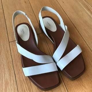 Pedro white leather sandals 36