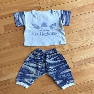 Adidas set for boys -- shirt & harem pants
