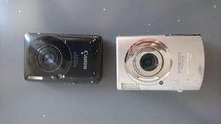 不知好壞兩部Canon相機,冇電冇card $30