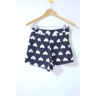Black heart shorts
