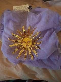 Her Pony purple mesh dress