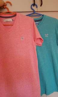 Regatta V-Neck Shirts (Pink and Teal) FOR SALE