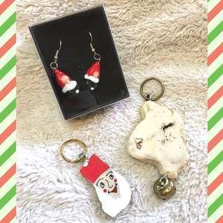 (Lapland,Finland) Set of Assorted Christmas-Themed Souvenir Items