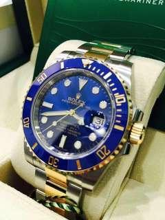 Rolex Submariner Half Gold Sunburst