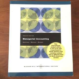 Managerial Accounting - 12th Ed.