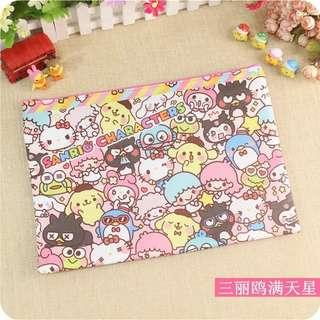 BN Sanrio Characters A4 Pouch