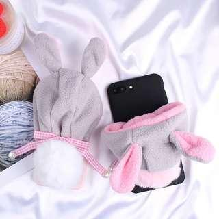 iPhone casing Fluffy rabbit tail