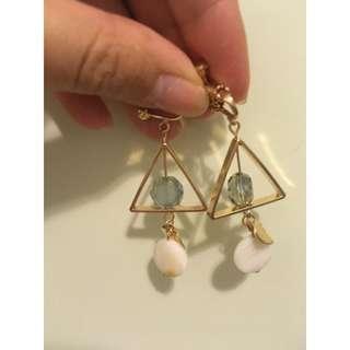 幾何夾耳環