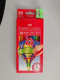 木顏色筆 (10色連pencil sharpener)