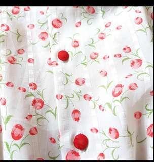 Vintage dress/floral/chiffon