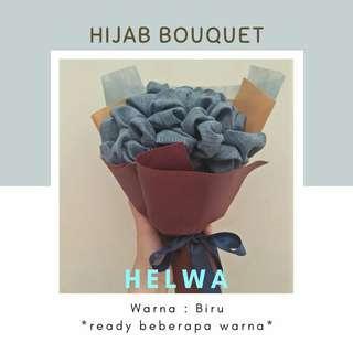 BOUQUET HIJAB BAHAN HELWA TEXTURE