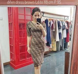 FENDI dress brown fit S-M