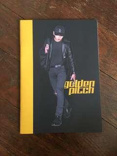 jungkook golden pitch blank notebook
