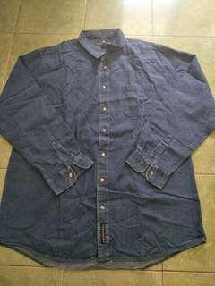 Kemeja jeans Pria Jumbo